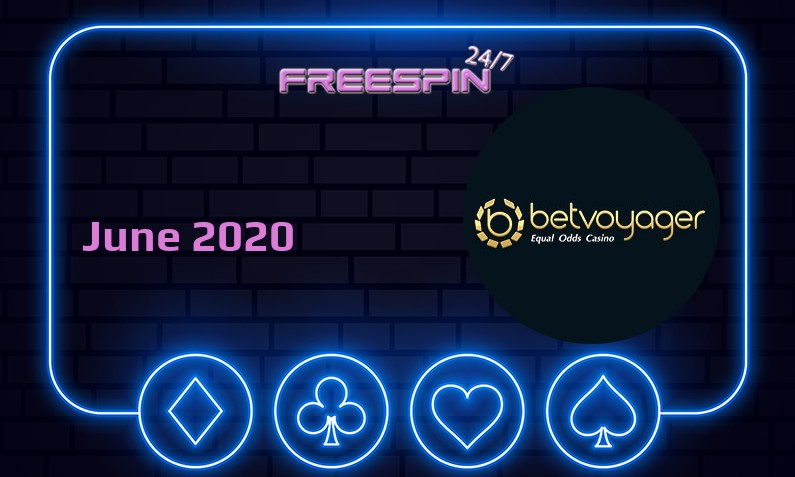 Latest no deposit bonus from Betvoyager Casino- 29th of June 2020